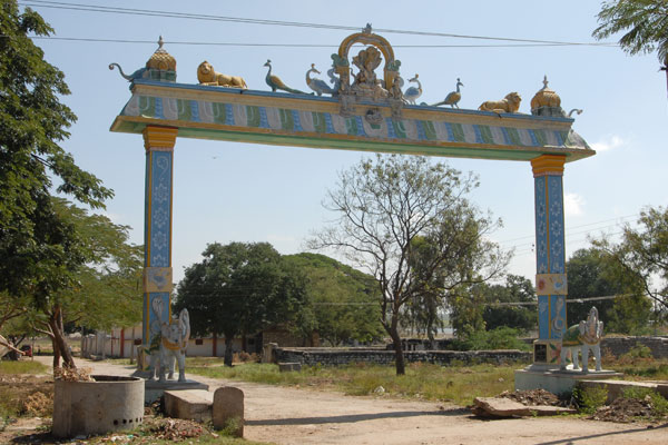 The Main entrance of Sri Subramanyeshwara temple in Nagalamadaka Kshetram